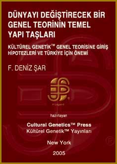 Deniz Sar: Introductory Hypotheses to the General Theory of Cultural Genetics (TM) and Their Relevance for Turkey as a Developing Country, Foreign Language Edition, Cultural Genetics Press (TM), New York, 2005.